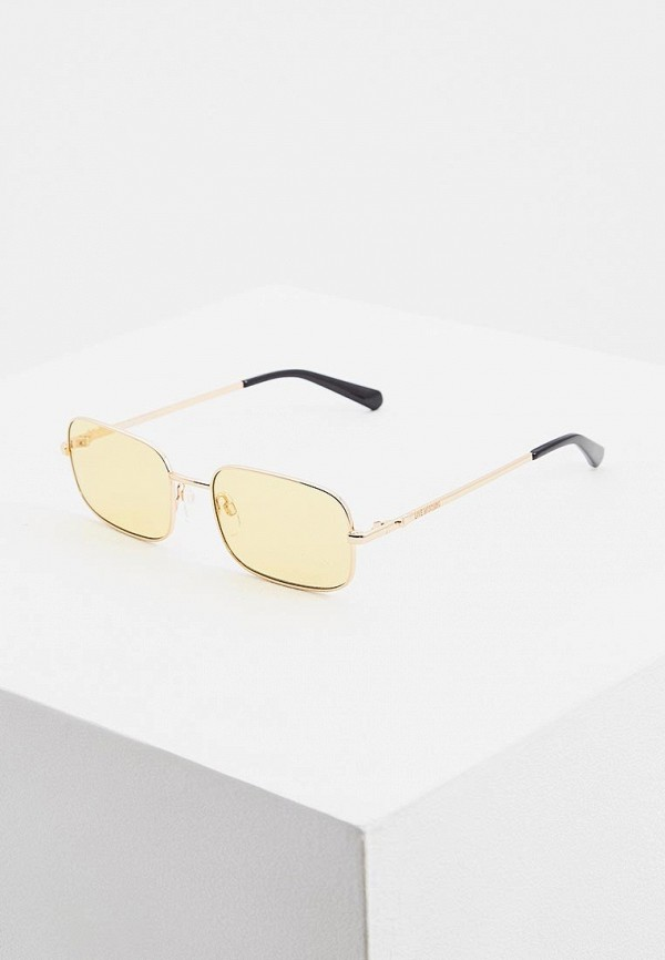 женские солнцезащитные очки love moschino, желтые