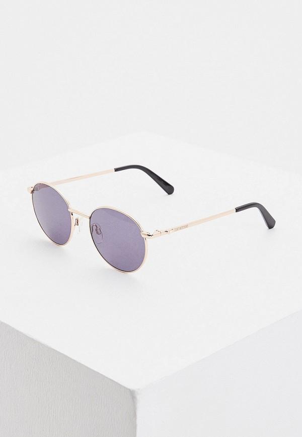 женские круглые солнцезащитные очки love moschino, синие