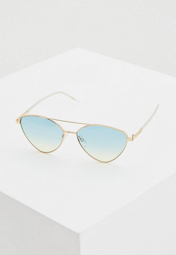женские авиаторы солнцезащитные очки love moschino, золотые