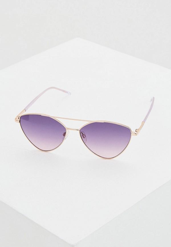женские авиаторы солнцезащитные очки love moschino, фиолетовые
