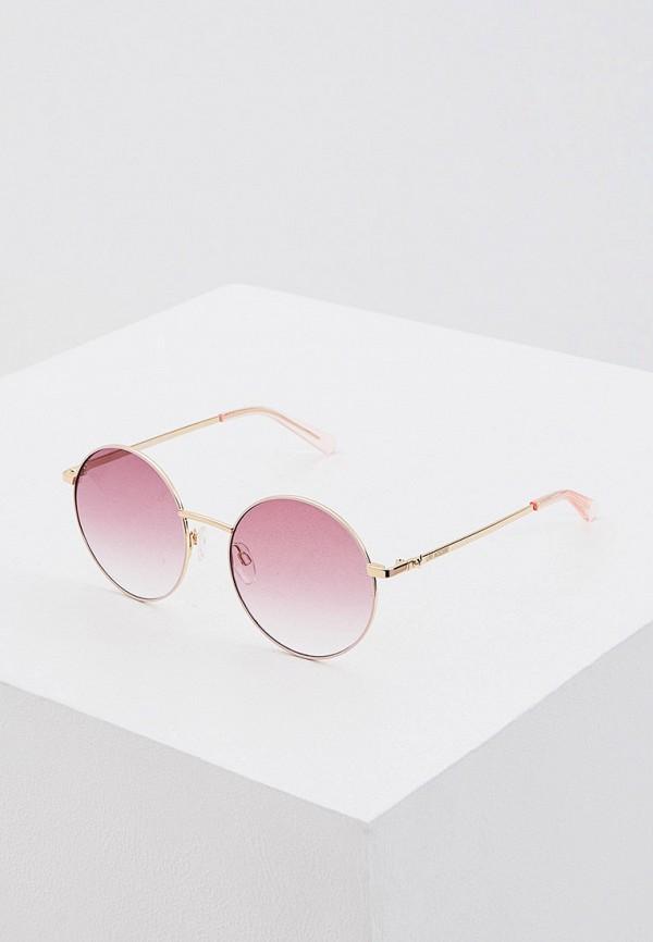 женские солнцезащитные очки love moschino, розовые