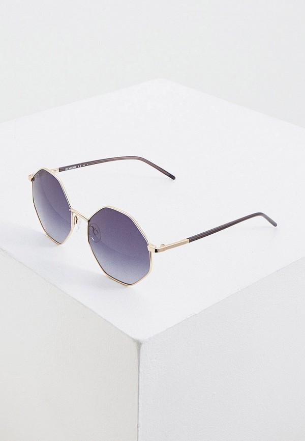 женские солнцезащитные очки love moschino, золотые