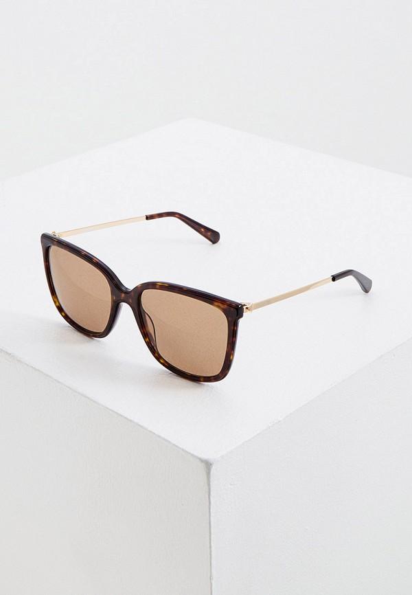 женские солнцезащитные очки love moschino, коричневые