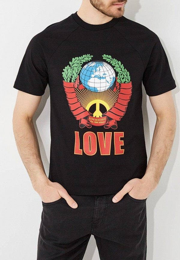 Футболка Love Moschino Love Moschino LO416EMANSE8 цены онлайн