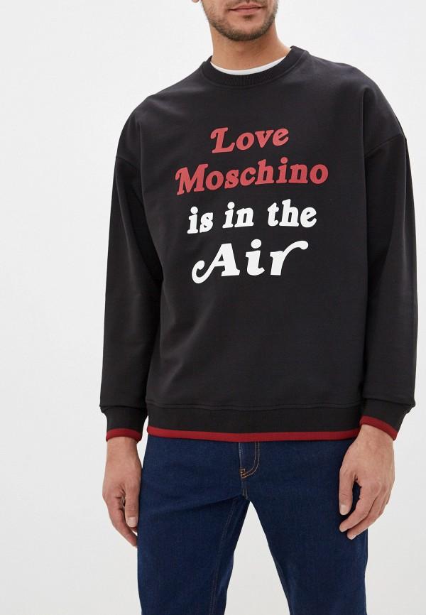 мужской свитшот love moschino, черный