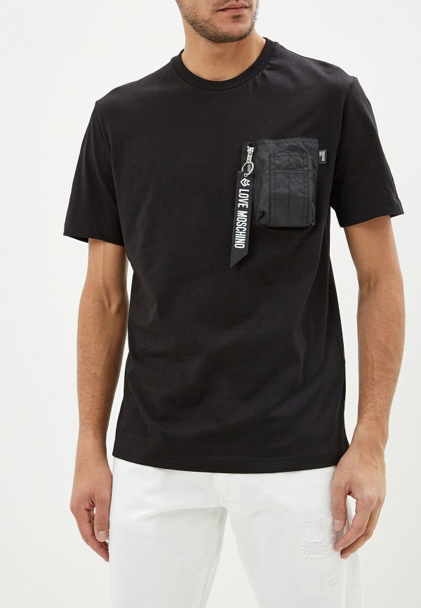 Фото - мужскую футболку Love Moschino черного цвета