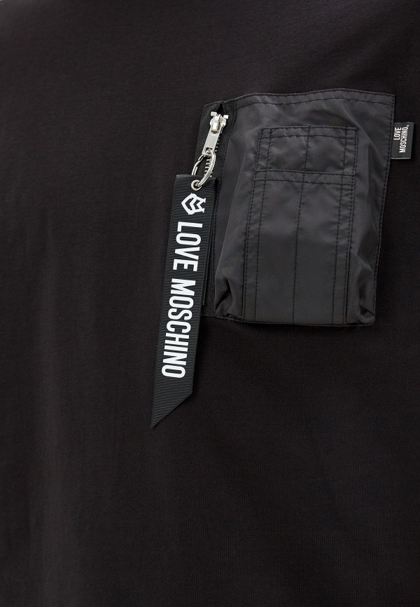Фото 4 - мужскую футболку Love Moschino черного цвета