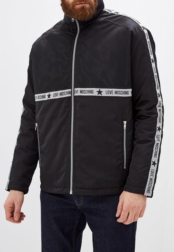 мужская куртка love moschino, черная