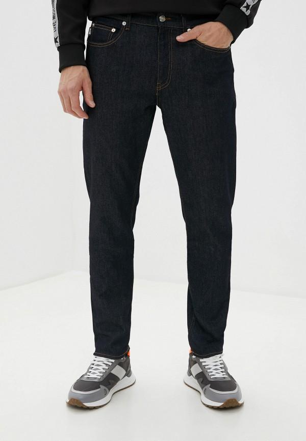мужские зауженные джинсы love moschino, синие
