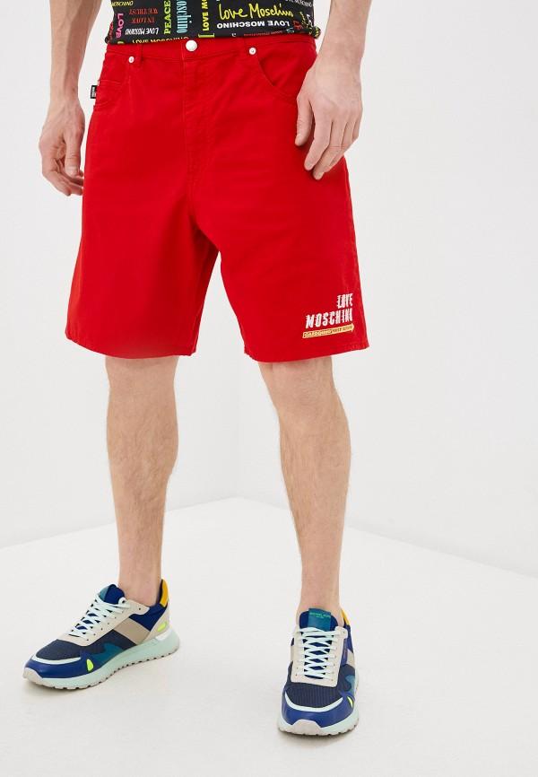 мужские повседневные шорты love moschino, красные