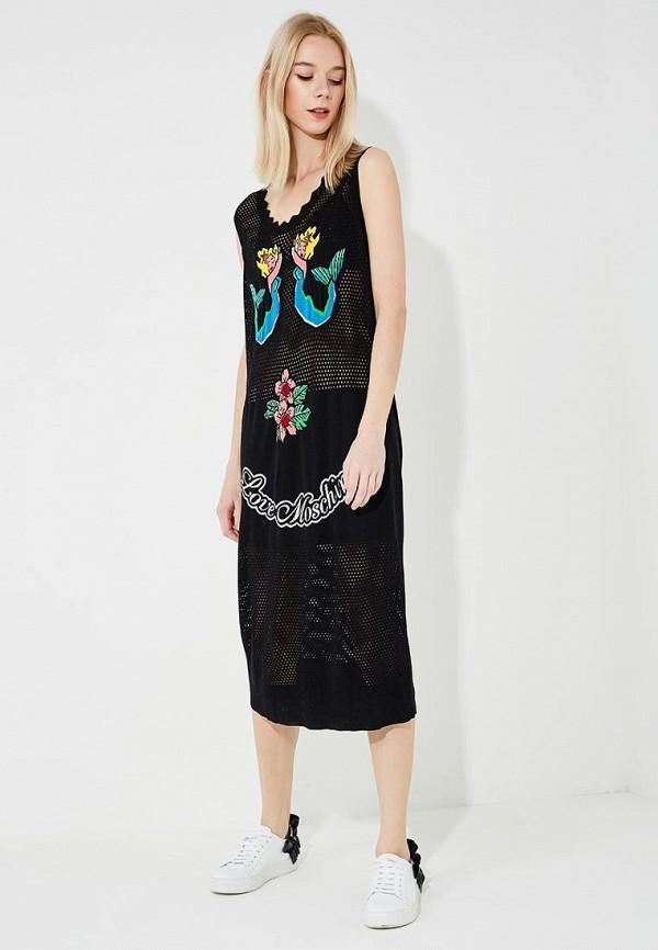 Платье Love Moschino Love Moschino LO416EWAEVK8 платье love moschino love moschino lo416ewdsb07