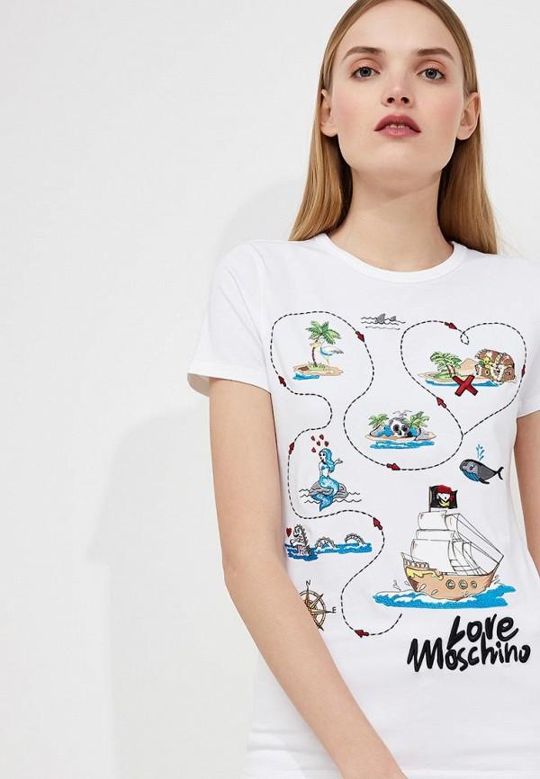 Футболка Love Moschino Love Moschino LO416EWAEVM1 цены онлайн