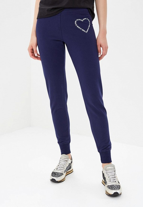 женские спортивные спортивные брюки love moschino, синие
