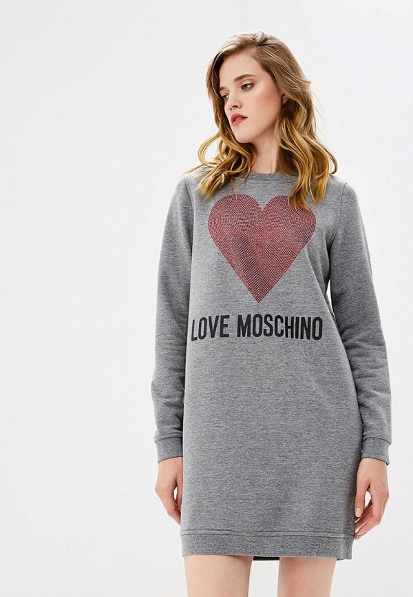 Платье Love Moschino Love Moschino LO416EWCFKS2 платье love moschino love moschino lo416ewukw56