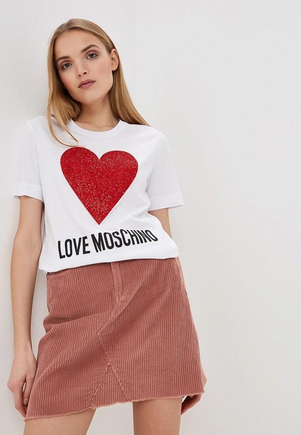 Футболка Love Moschino Love Moschino LO416EWDRJH6 шлепанцы love moschino love moschino lo416awypk77