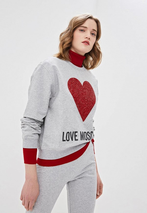 Свитшот Love Moschino Love Moschino LO416EWDRJI9 свитшот moschino moschino mo351ewmid58