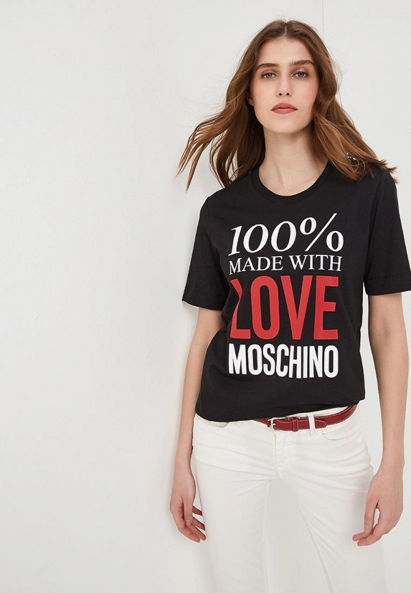 Футболка Love Moschino Love Moschino LO416EWEDAT5 все цены