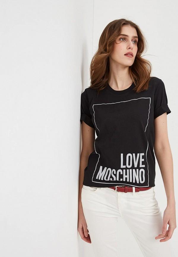 Футболка Love Moschino Love Moschino LO416EWEDAT9 недорго, оригинальная цена