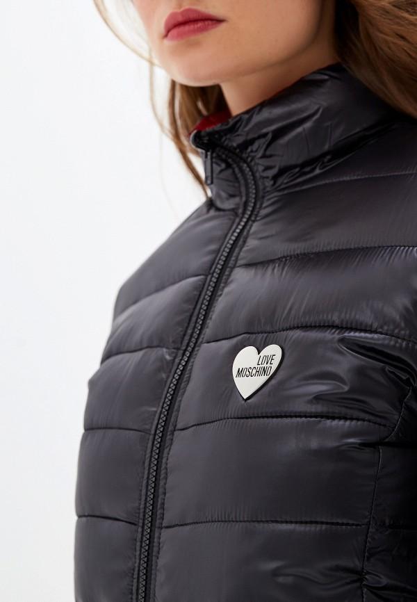 Фото 4 - Куртку утепленная Love Moschino черного цвета