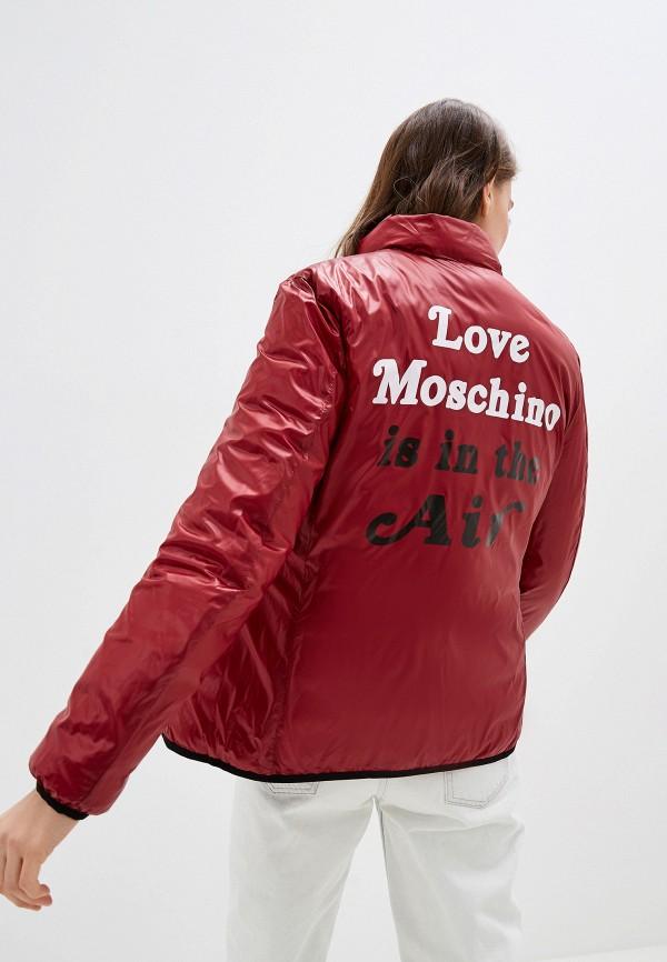 Фото 5 - Куртку утепленная Love Moschino черного цвета