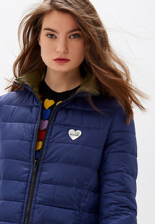 Фото 5 - Куртку утепленная Love Moschino разноцветного цвета