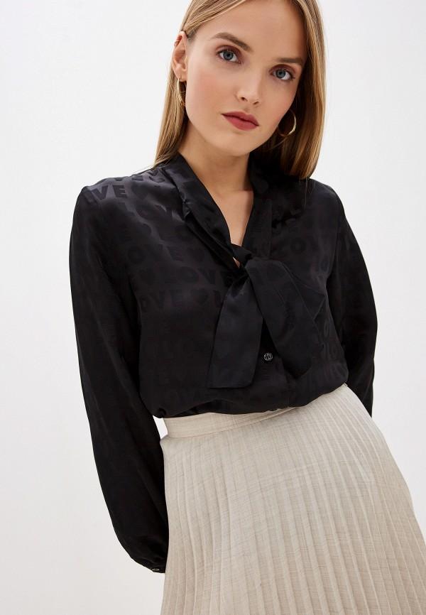 женская блузка love moschino, черная