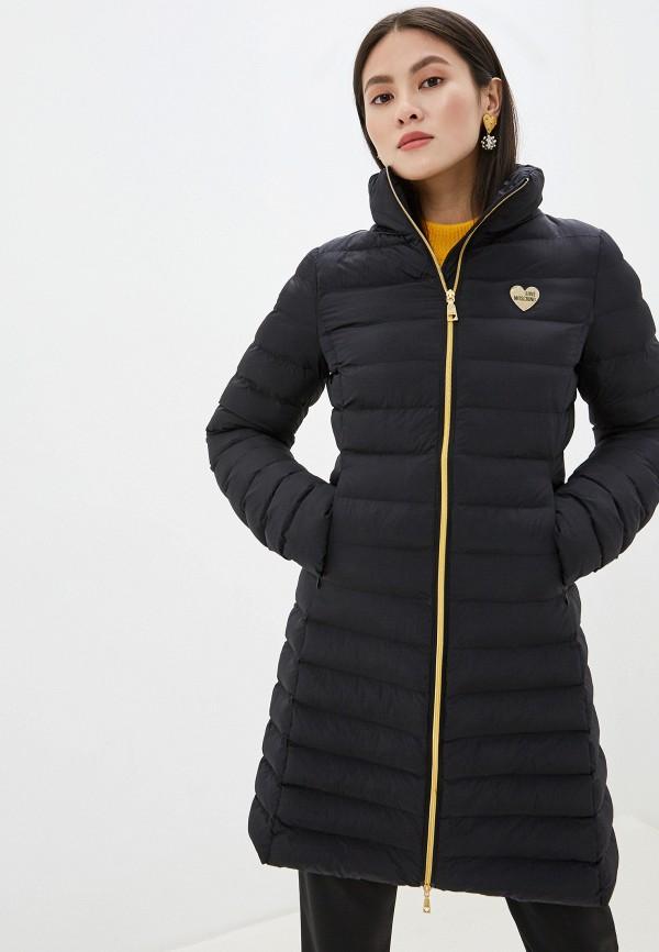 женская куртка love moschino, черная