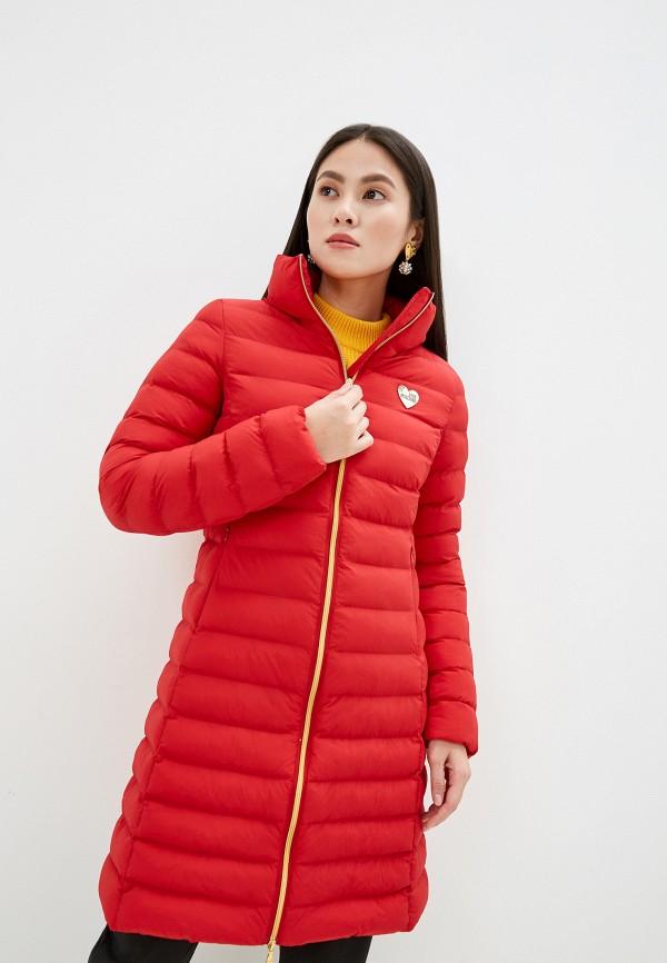 женская куртка love moschino, красная