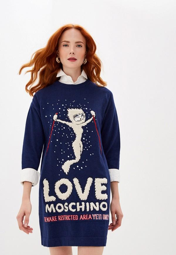 Платье Love Moschino Love Moschino LO416EWGCKF3 цена