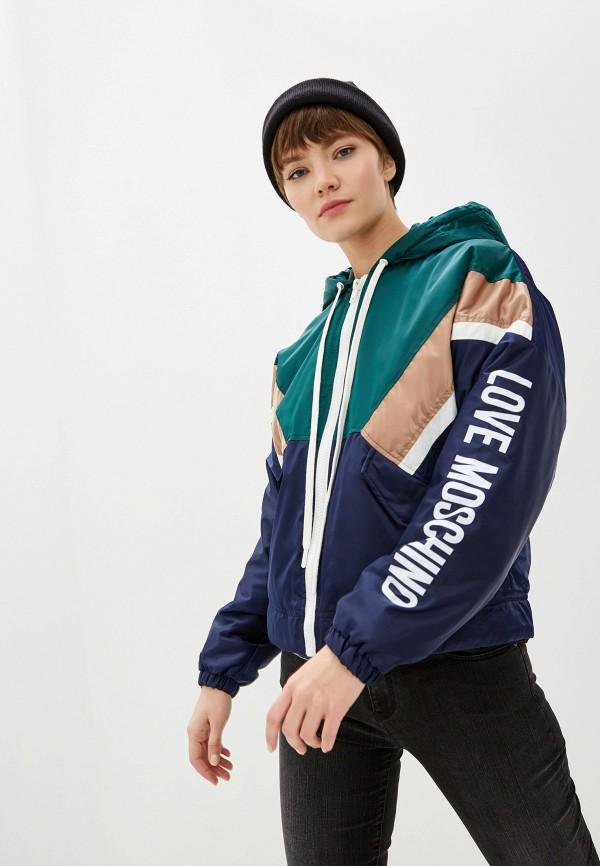 женская куртка love moschino, разноцветная