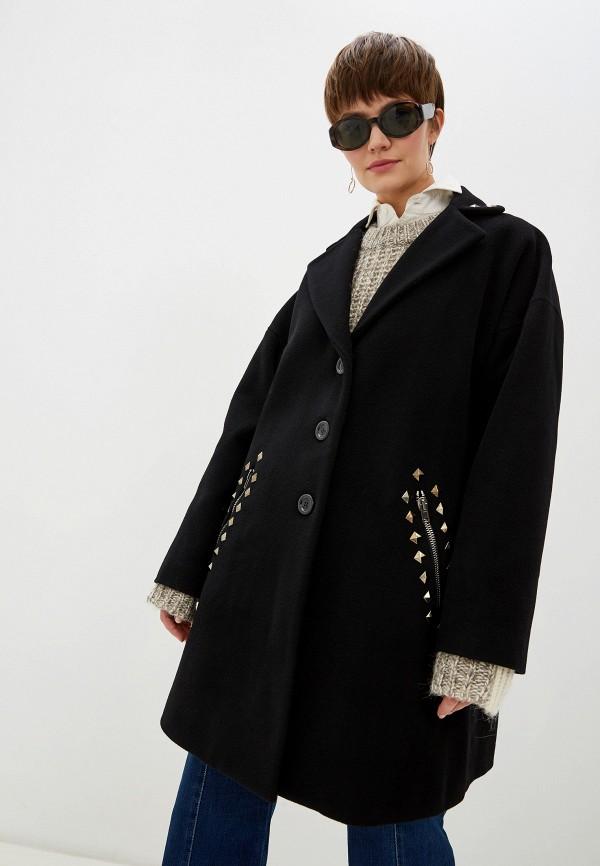 женское пальто love moschino, черное