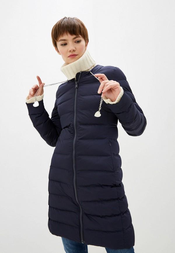 женская куртка love moschino, синяя