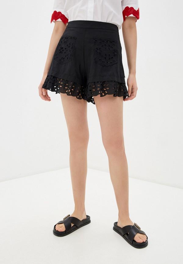 женские повседневные шорты love moschino, черные