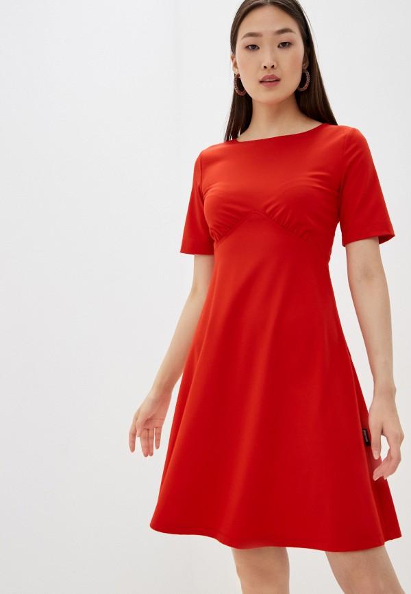 женское повседневные платье love moschino, красное