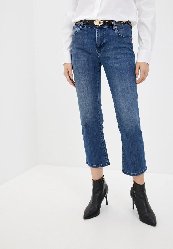 женские джинсы клеш love moschino, синие