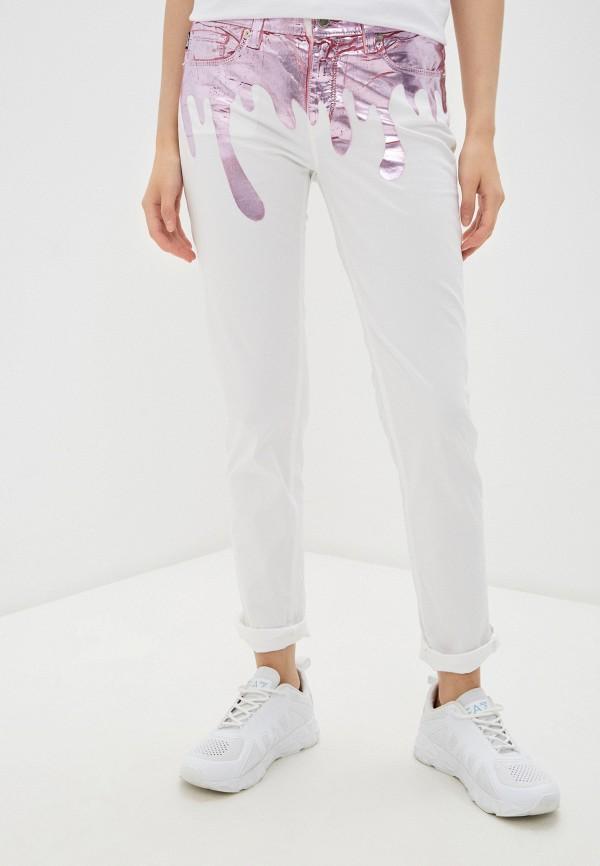 женские прямые джинсы love moschino, белые