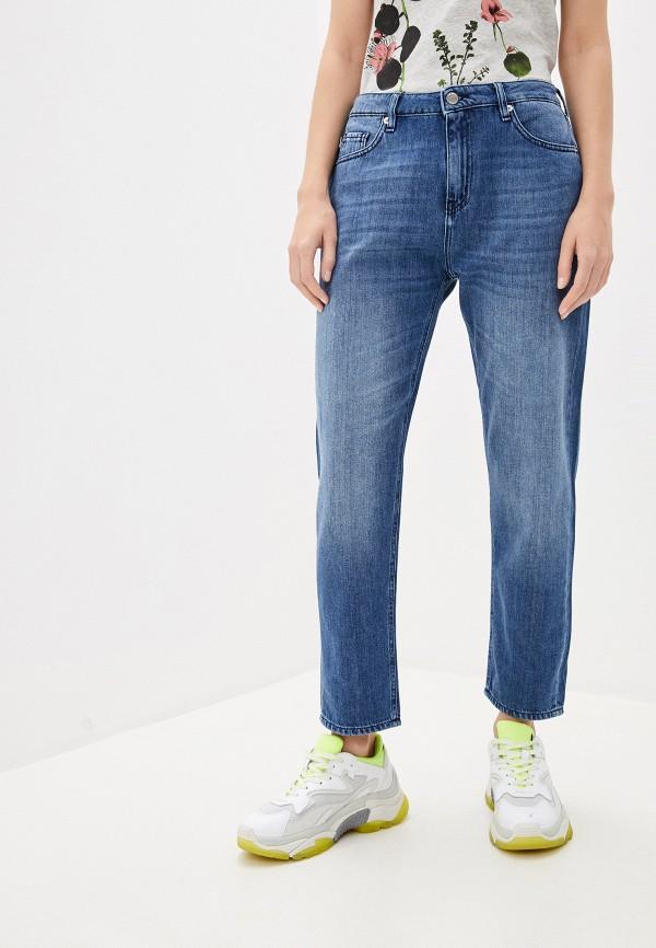 женские джинсы бойфренд love moschino, синие