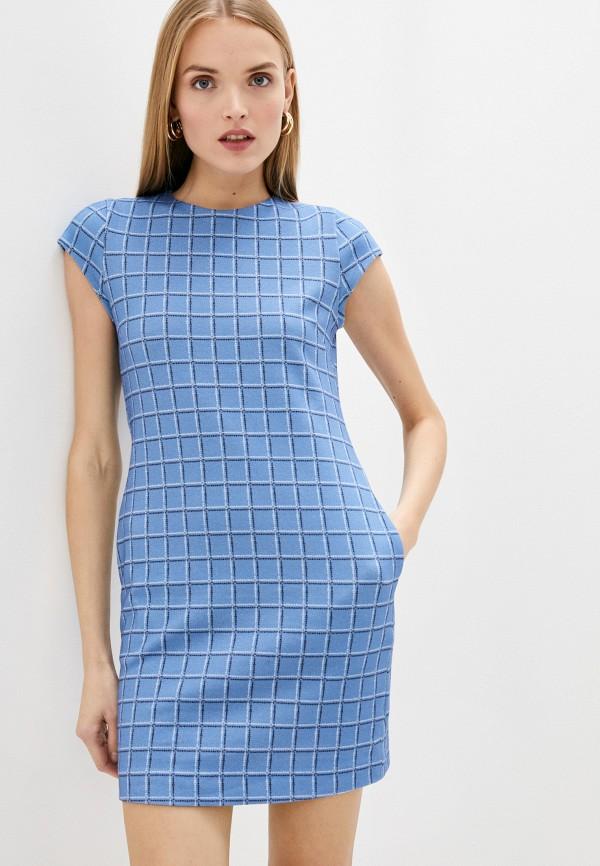 женское повседневные платье love moschino, синее