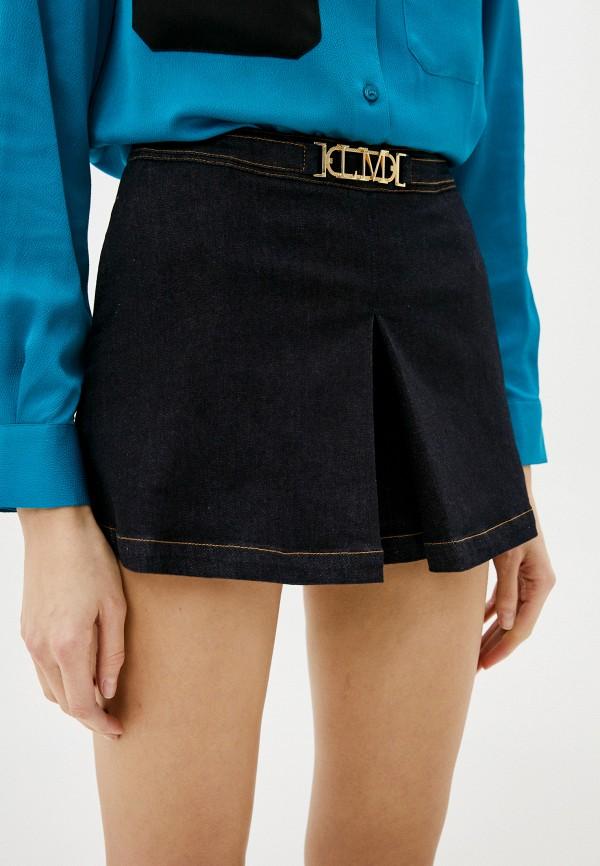 женская юбка love moschino, синяя