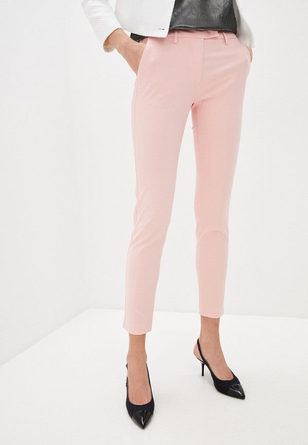 женские повседневные брюки love moschino, розовые