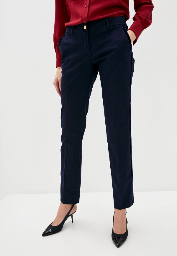женские классические брюки love moschino, синие