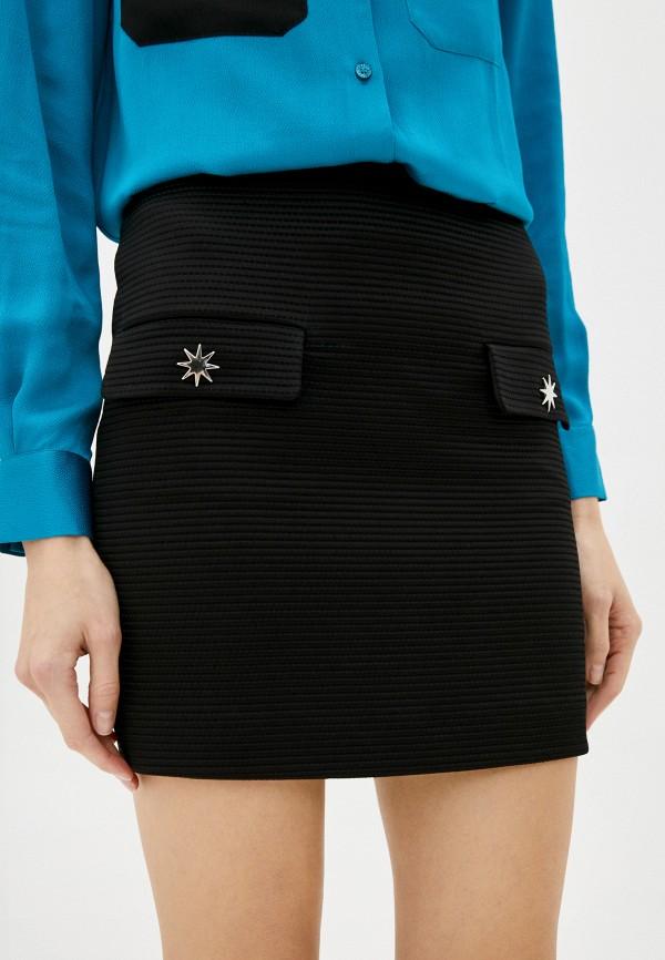 женская зауженные юбка love moschino, черная