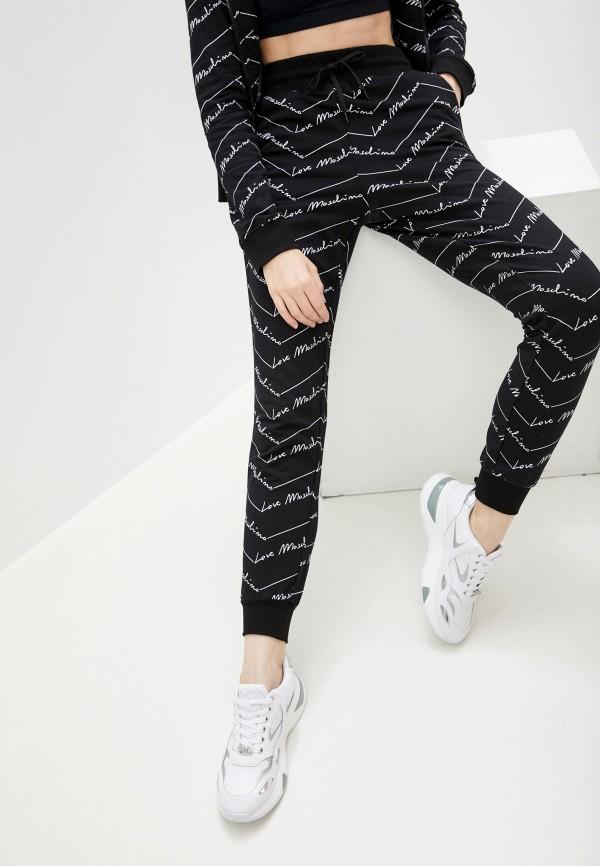 женские спортивные брюки love moschino, черные