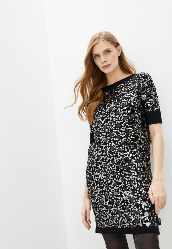 женское повседневные платье love moschino, черное