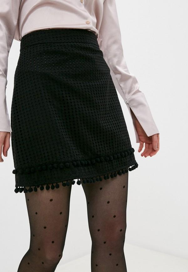 женская прямые юбка love moschino, черная