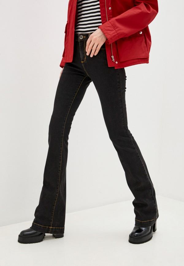 женские джинсы клеш love moschino, черные