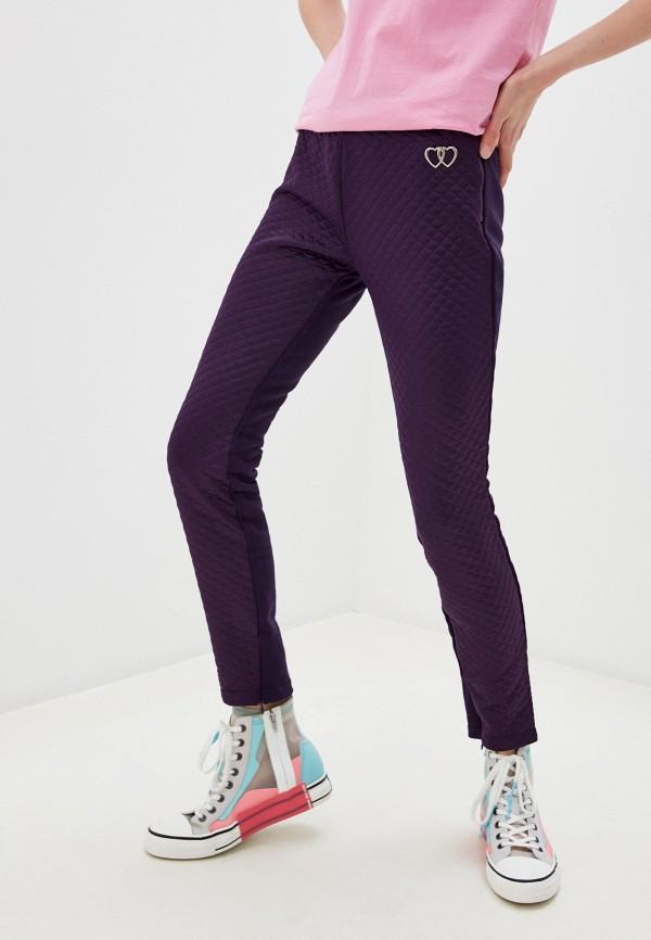 женские повседневные брюки love moschino, фиолетовые