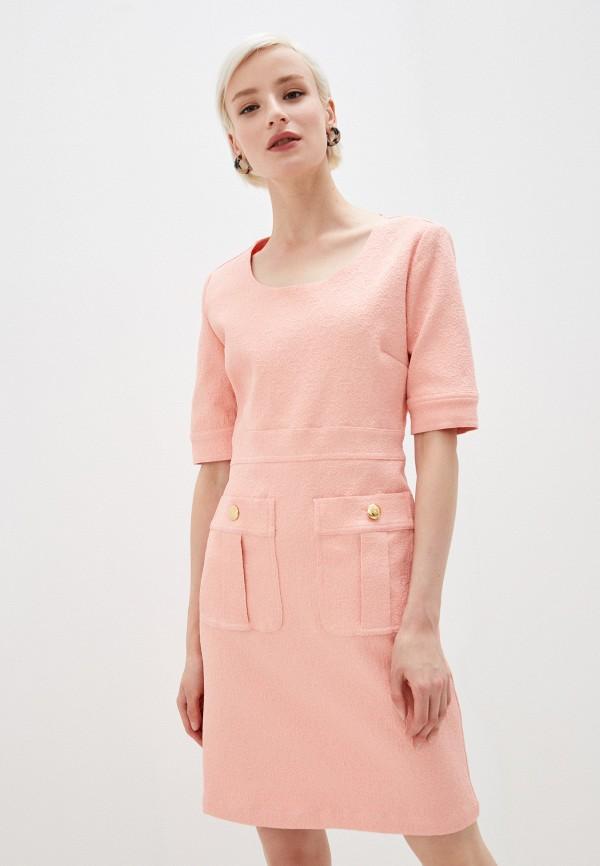женское платье-футляр love moschino, розовое