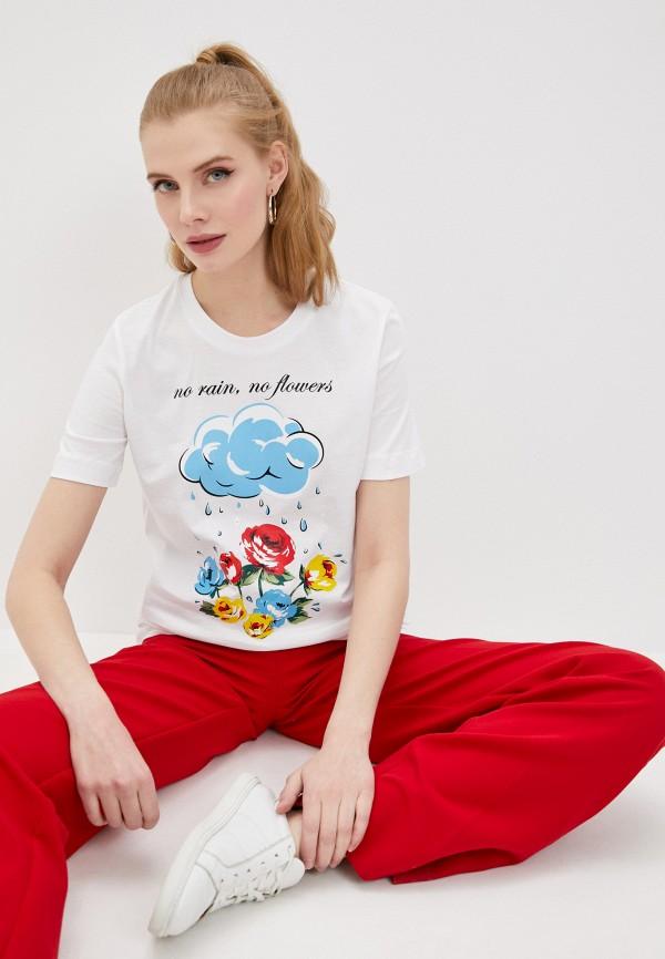 женская футболка love moschino, белая