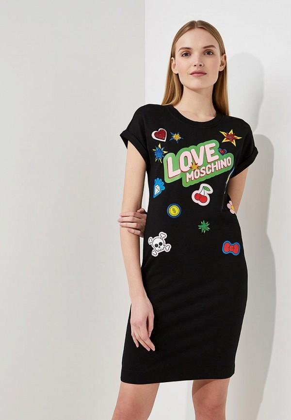 Платье Love Moschino Love Moschino LO416EWYPS95 свитшот love moschino love moschino lo416ewaevl8